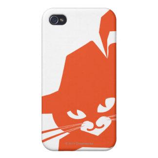 Gato anaranjado iPhone 4/4S fundas