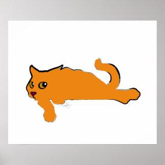 Gato anaranjado grande poster