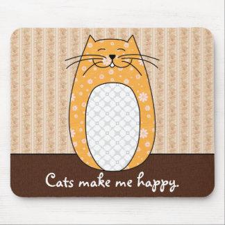"""Gato anaranjado"" Mousepad"