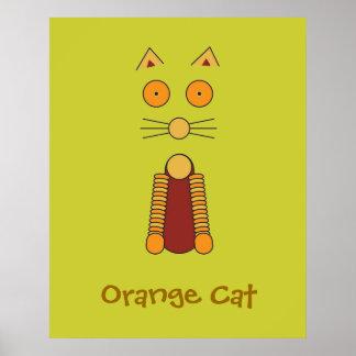 Gato anaranjado posters
