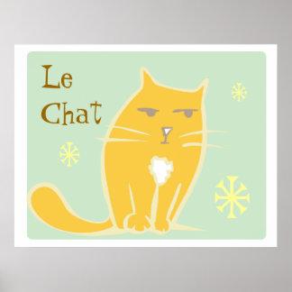 Gato anaranjado poster