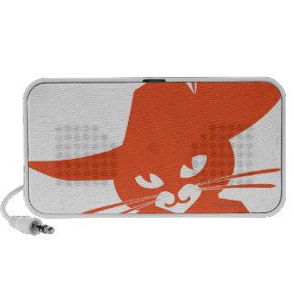 Gato anaranjado PC altavoces