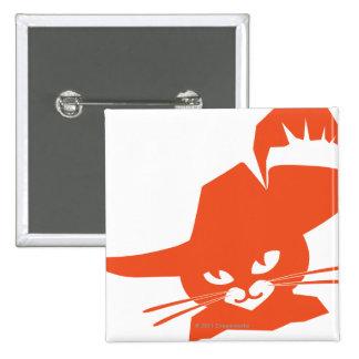 Gato anaranjado pin cuadrado
