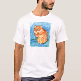 Gato anaranjado playera