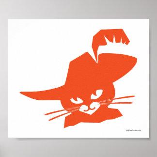 Gato anaranjado póster