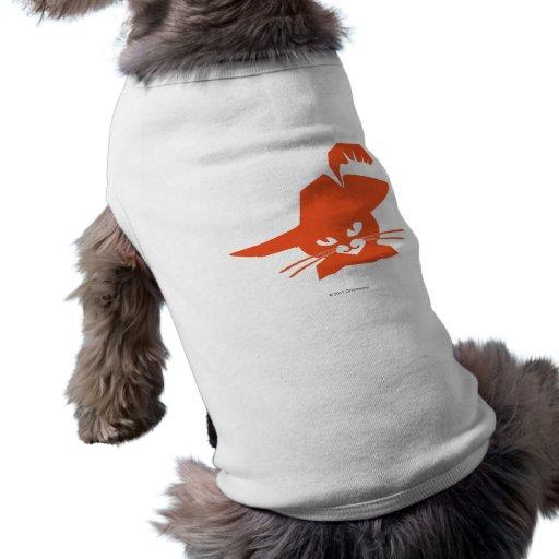 Gato anaranjado camisetas de perro