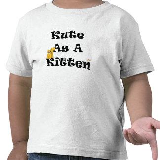 Gato anaranjado sonriente tonto Kute como gatito Camiseta