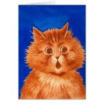 Gato anaranjado sorprendido Wain de Louis Tarjeta