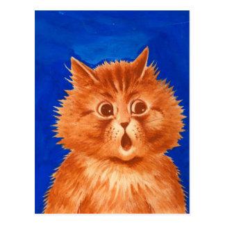Gato anaranjado sorprendido Wain de Louis Tarjetas Postales