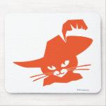 Gato anaranjado tapetes de raton
