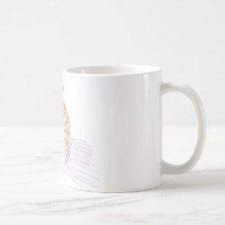 Gato anaranjado taza de café