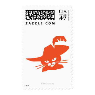 Gato anaranjado timbres postales