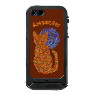 Gato anaranjado y el gatito felino del amante del carcasa de iphone 5 incipio atlas id
