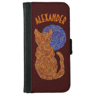 Gato anaranjado y el gatito felino del amante del carcasa de iPhone 6