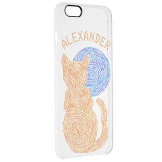 Gato anaranjado y el gatito felino del amante del funda clear para iPhone 6 plus