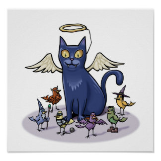 Gato angelical posters