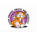 Gato animal del abuso tarjeta postal