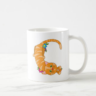 Gato animal del alfabeto taza de café