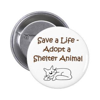 Gato animal del refugio del rescate de la adopción pins