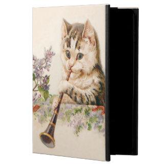 Gato antropomorfo que juega el cuerno - arte del
