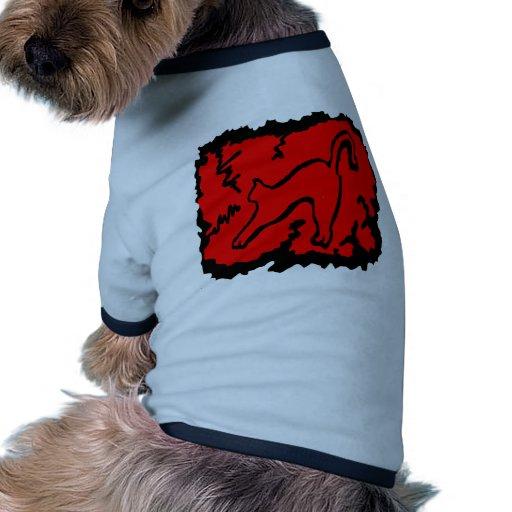 gato arqueado camiseta con mangas para perro
