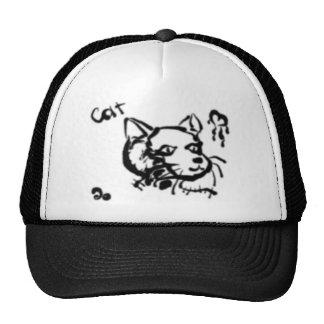 Gato artístico gorras de camionero