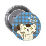 ¡Gato Asssault de Onigiri! Botón (Brown) Pins