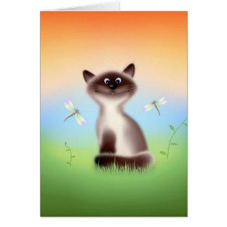 Gato astuto tarjeta de felicitación