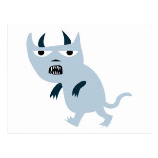 Gato asustadizo del diablo azul tarjetas postales