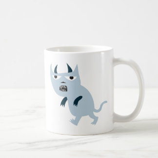 Gato asustadizo del diablo azul taza clásica