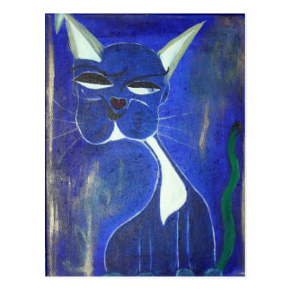 Gato azul bonito postal
