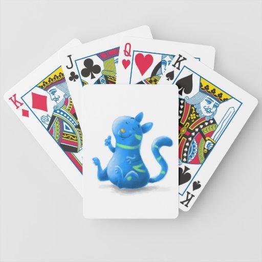 gato azul cartas de juego