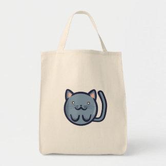 Gato azul de Chibi Bolsas Lienzo