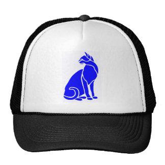 Gato azul de la hierba gorros