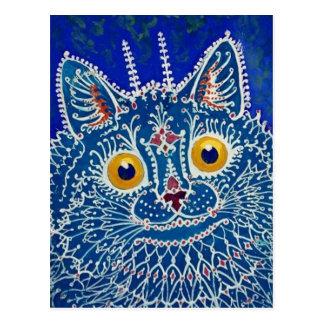 Gato azul de Louis Wain Postal