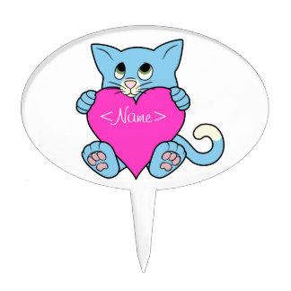 Gato azul del el día de San Valentín con el Decoraciones De Tartas