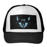 Gato azul del empollón gorras de camionero
