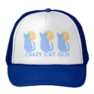 Gato azul del gato de la diversión loca del gorros