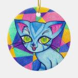 Gato azul en el fondo de Technocolour Ornamentos Para Reyes Magos