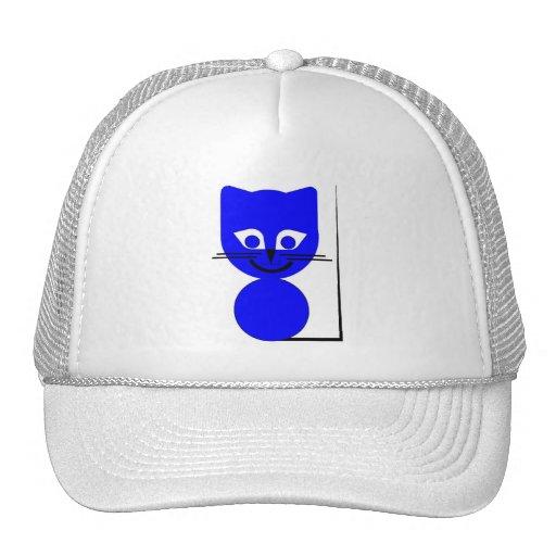 Gato azul gorros bordados