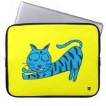 Gato azul perezoso manga del ordenador portátil de mangas portátiles