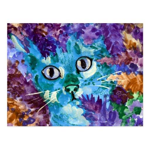 Gato azul postal