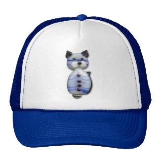 Gato Azul-Rayado de la cuenta de cristal Gorra