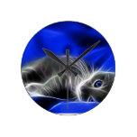 gato azul reloj redondo mediano