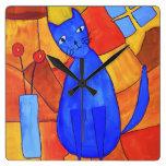 Gato azul relojes