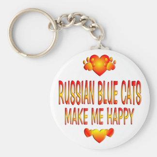 Gato azul ruso llavero redondo tipo pin