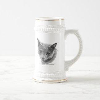 Gato azul ruso taza de café