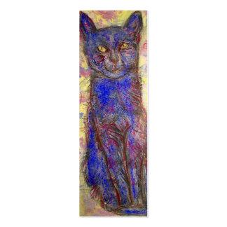 gato azul tarjeta personal