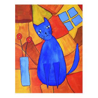 Gato azul postales