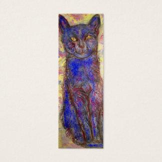 gato azul tarjetas de visita mini